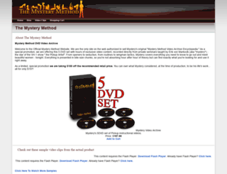 mysterymethod.com screenshot