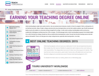 myteachingdegreeonline.org screenshot