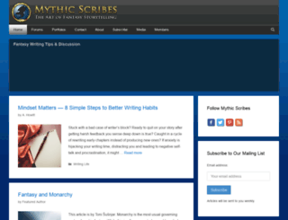 mythicscribes.com screenshot