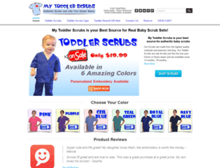 mytoddlerscrubs.com screenshot