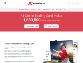 mytradingcards.com screenshot