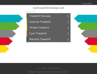 mytreadmillreviews.net screenshot