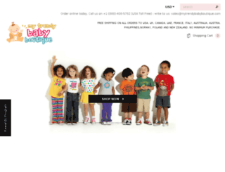 mytrendybabyboutique.com screenshot