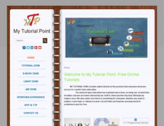 mytutorialpoint.com screenshot