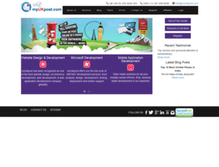 myukpost.acquirepay.com screenshot