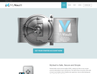 myvaultstorage.com screenshot