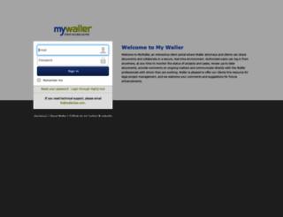 mywaller.wallerlaw.com screenshot