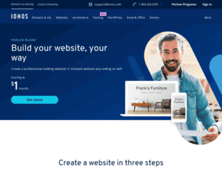 mywebsitepersonal.1and1.com screenshot