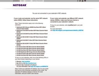 mywifiext.com screenshot