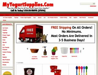 myyogurtsupplies.com screenshot