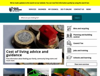 n-somerset.gov.uk screenshot