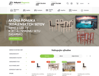nabytok-elegancia.sk screenshot