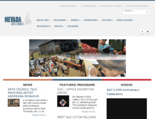 nac.nevadaculture.org screenshot