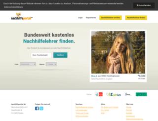 nachhilfeportal.de screenshot
