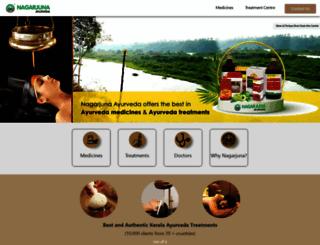 nagarjunaayurveda.com screenshot