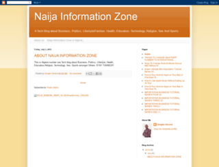 naijainformationzone.blogspot.com screenshot