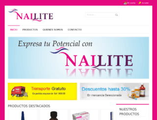 nailite.com.ve screenshot