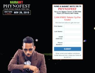 nairabetphynofest.com screenshot