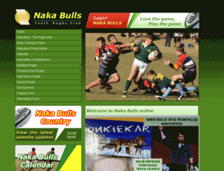 nakarugby.co.za screenshot