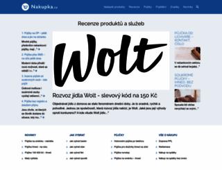 nakupka.cz screenshot