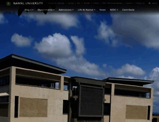 namal.edu.pk screenshot