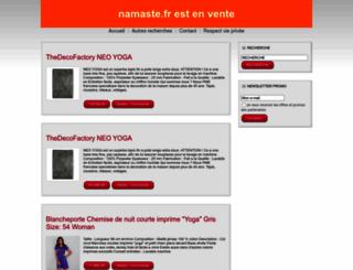 namaste.fr screenshot
