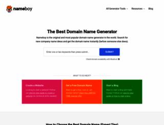nameboy.com screenshot