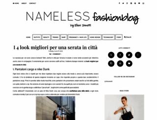 namelessfashionblog.com screenshot