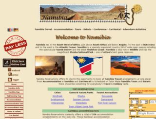 namibiareservations.com screenshot