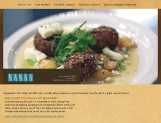 nanasdurham.com screenshot