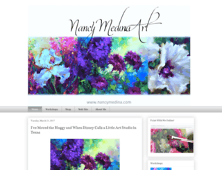 nancymedinaart.com screenshot