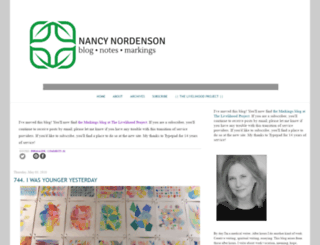 nancynordenson-markings.com screenshot