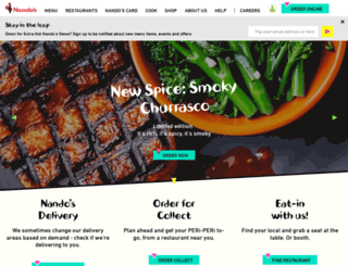nandos.co.uk screenshot