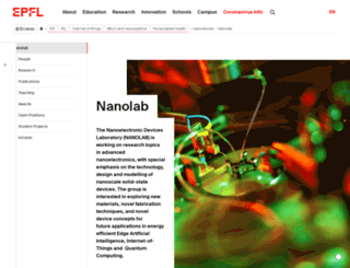 nanolab.epfl.ch screenshot