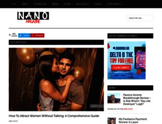 nanomagazine.com screenshot