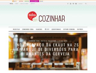 naoseicozinhar.com screenshot