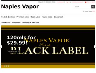 naplesvaporlounge.com screenshot