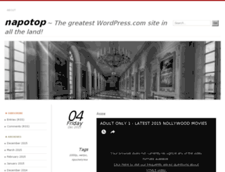 napotop.wordpress.com screenshot