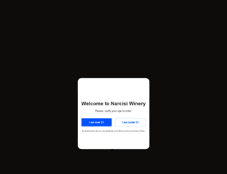 narcisiwinery.com screenshot