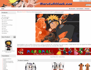 narutoattack.com screenshot