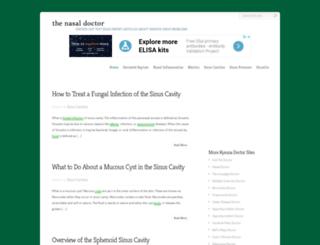 nasal-doctor.com screenshot
