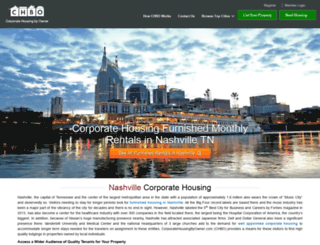 nashville.corporatehousingbyowner.com screenshot