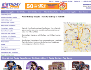 nashvillepartysupplies.birthdaydirect.com screenshot