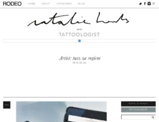 nataliehanks.com screenshot