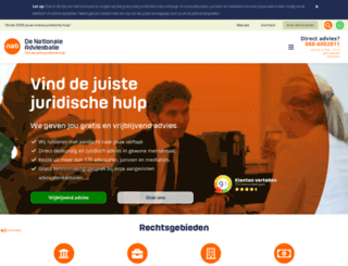 nationaleadviesbalie.nl screenshot