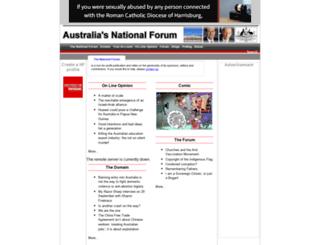 nationalforum.com.au screenshot