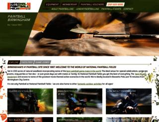 nationalpaintballfields.com screenshot