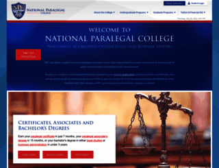 nationalparalegal.edu screenshot