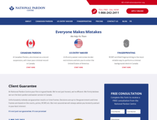 nationalpardon.org screenshot