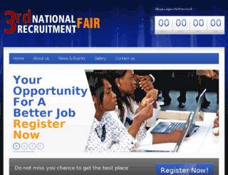 nationalrecruitmentfairs.com screenshot
